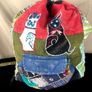 Rising International Cotton Nepal Backpack Cats